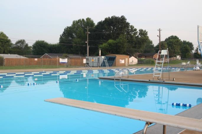 New Providence Pool Swimming Lanes and Deep End with Diving Board