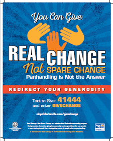 Real Change Not Spare Change Poster (PDF)