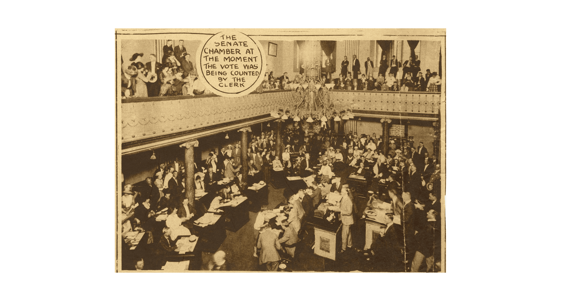 Suffrage vote scene