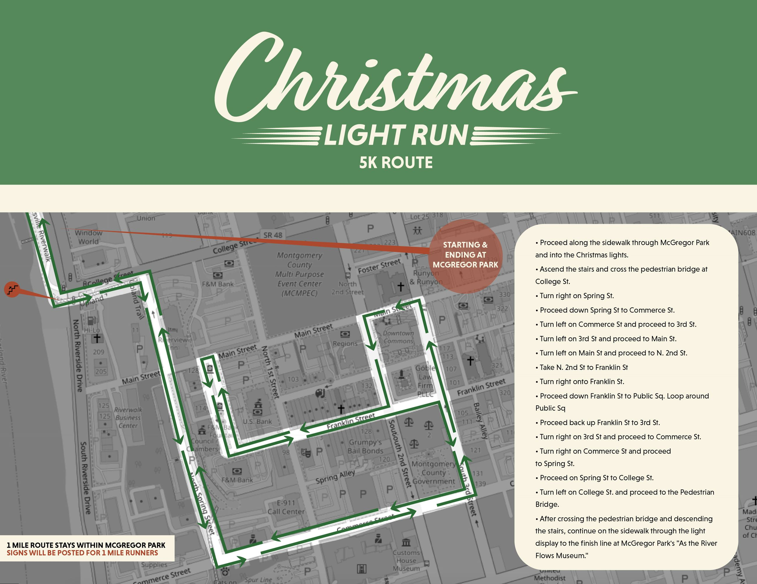 Christmas Light Run Map