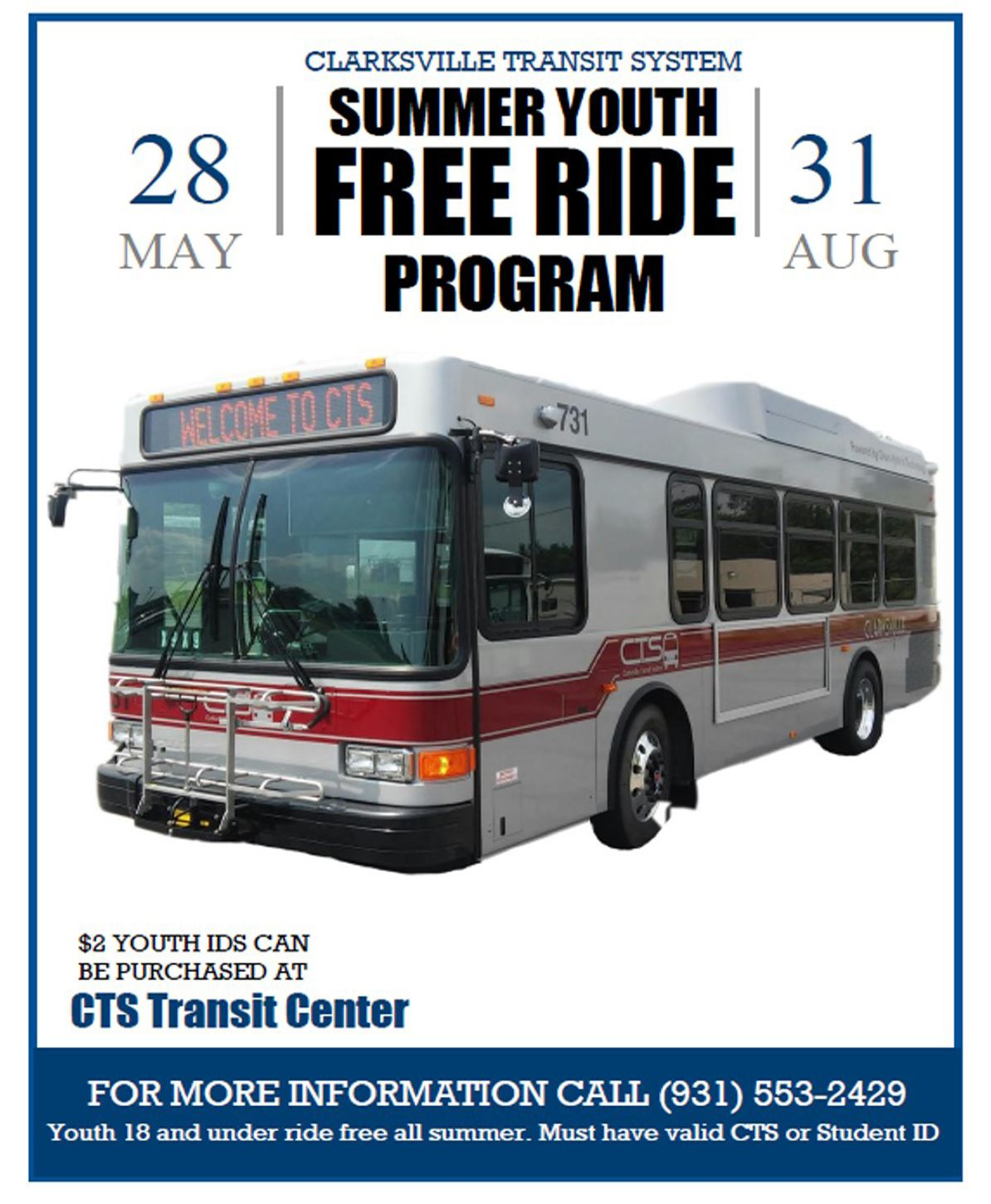 CTS YOUTH RIDE FREE
